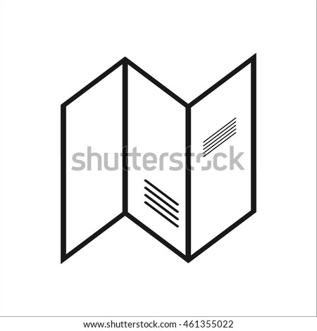 Guide Booklet Travel Tourism Map Symbol Stock Vector 461355022