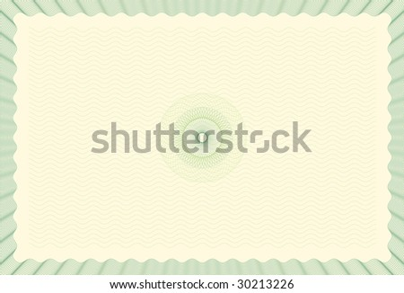 Guilloche Background for Certificate, Voucher, Diploma (stroke widths are editable) - stock vector
