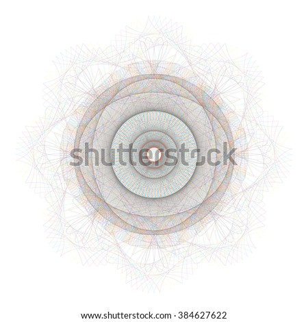 Guilloche pattern for certificate and other security documents - isolated on white background. Vector illustration. - stock vector