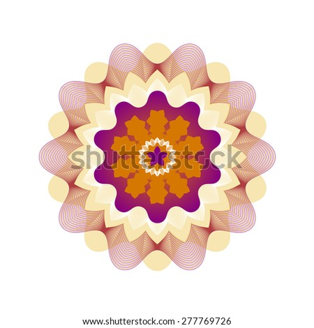 Guilloche Rosette Vector Illustration - stock vector