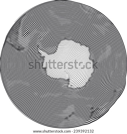 Guilloche Vector Illustration of South Pole Uzumaki stile - stock vector