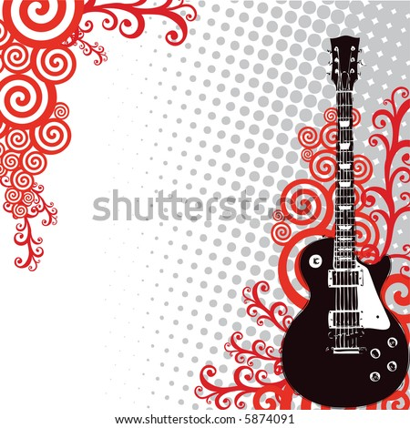 guitar - stock vector