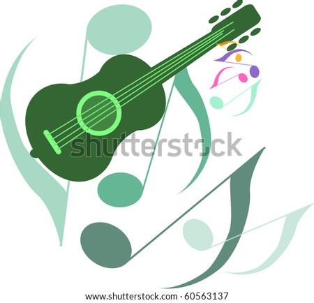 guitar - stock vector