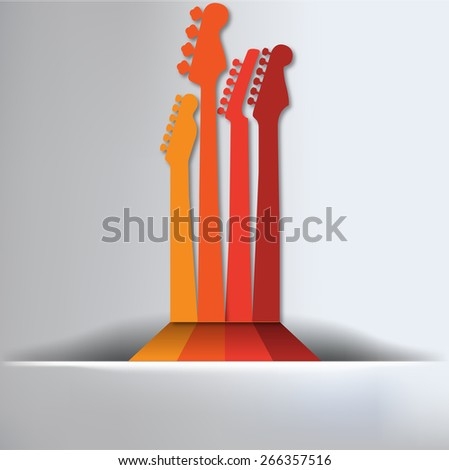 Guitar Abstract Background - stock vector