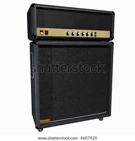 Guitar Amp / Half Stack (vector)