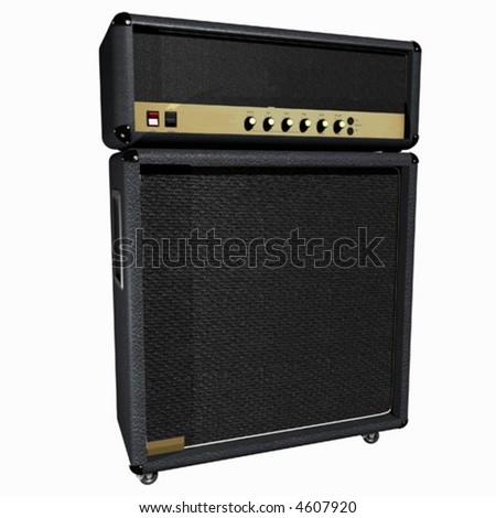 Guitar Amp / Half Stack (vector) - stock vector