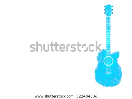 guitar blue sky abstract isolated  vector Illustration - stock vector