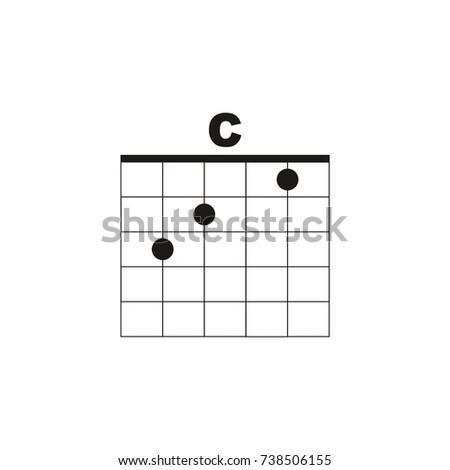 Guitar Chord C Vector Logo Stock Vector 738506155 Shutterstock