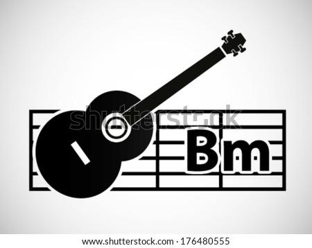 Guitar Chord Illustration B Minor Stock Vector 176480555 - Shutterstock
