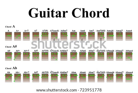 Guitar Chords Beginners Stock Vector 2018 723951778 Shutterstock