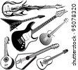 Guitar Collection - stock vector