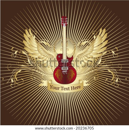 Guitar cover. Vector. - stock vector