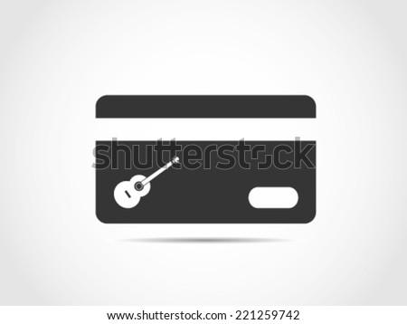 Guitar Credit Card - stock vector