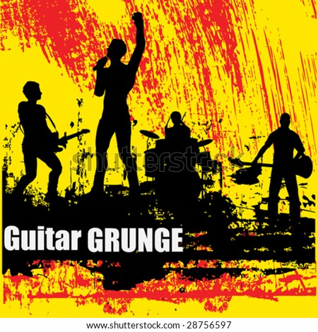 Guitar Group Grunge Background