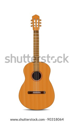 Guitar Isolated on White - stock vector