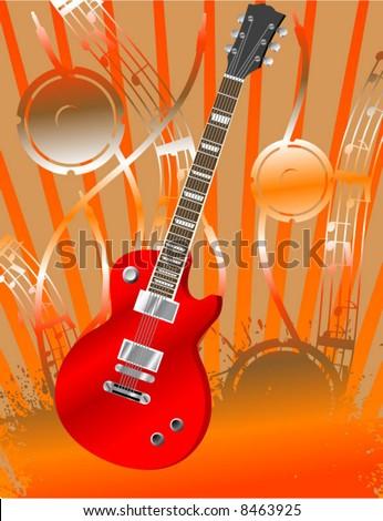 Guitar Solo!!! - stock vector