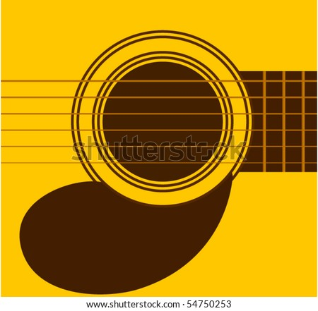guitar sound hole - stock vector