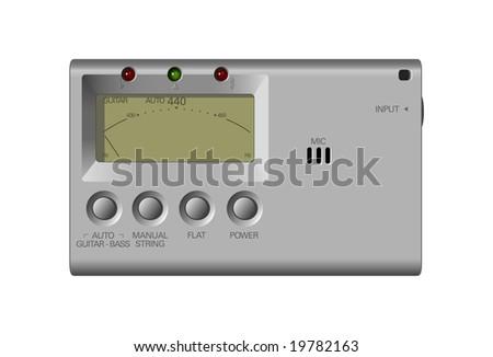 Guitar Tuner - stock vector