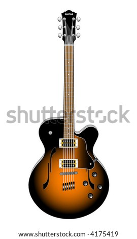 GUITAR (vector) - stock vector