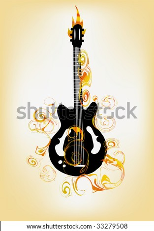 guitar with vintage elements