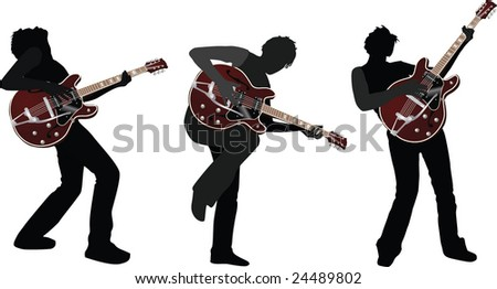 Guitarist - stock vector