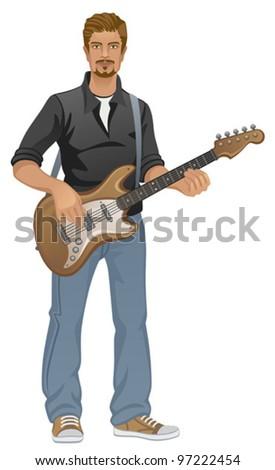Guitarist - stock vector