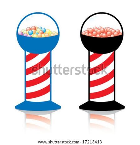 Gum ball Machines - stock vector