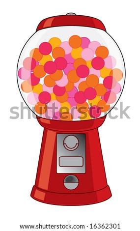 gum machine - stock vector