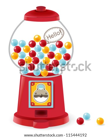 Gumball machine stock images royalty free images vectors gumball machine pronofoot35fo Images