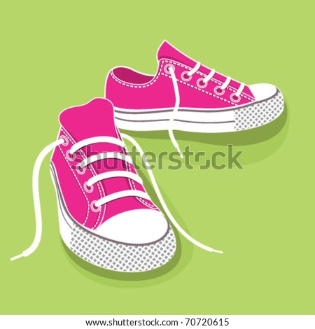 Gumshoes for sport. - stock vector