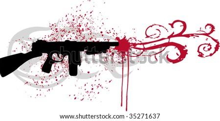 gun - stock vector