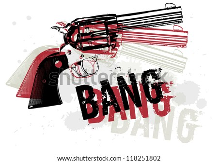 Gun Abstract - stock vector