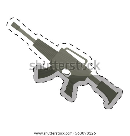 gun firearm weapon  icon image vector illustration design