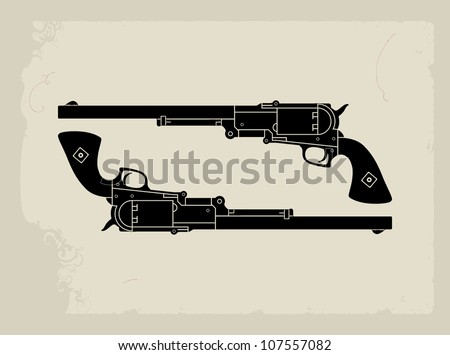 gun simple talk - stock vector
