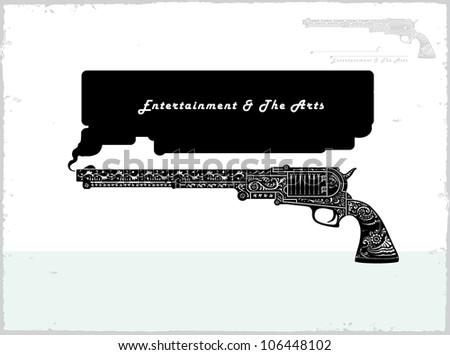 gun talk - stock vector