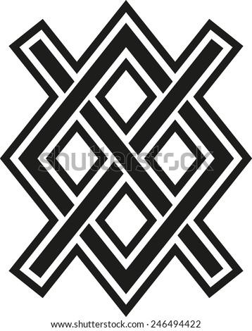 Gungnir, Odin's Spear, Rune Gar, Viking, Magic - stock vector