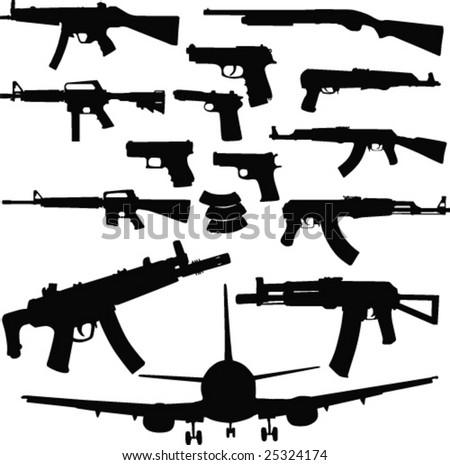 Guns-vector - stock vector