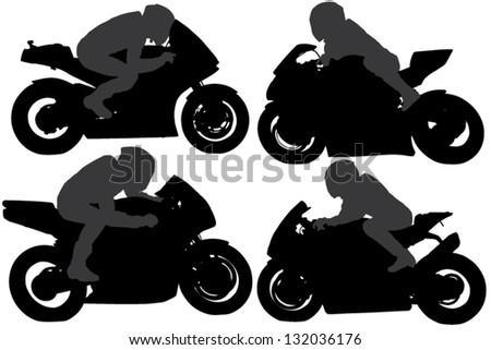 Motorcycle Racing Silhouette Guy on motorcycle silhouette