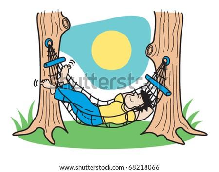 Guy Sleeping In Hammock Clip Art