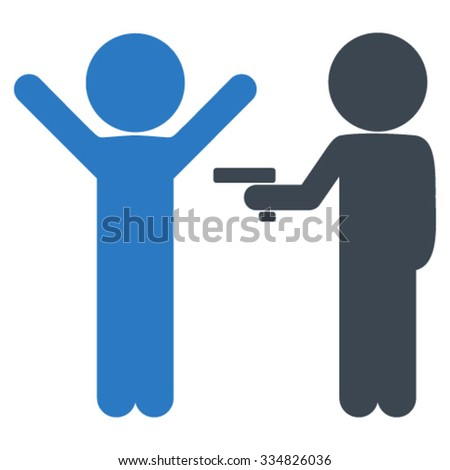 Guys Crime vector icon. Style is bicolor flat symbol, smooth blue colors, rounded angles, white background. - stock vector