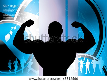 Gym background - stock vector