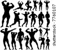 gym, fitness vector - stock photo