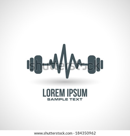 gym icon design concept in vector format - stock vector