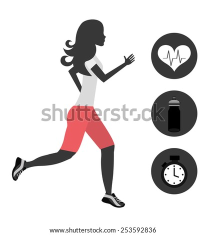 gym icon design, vector illustration eps10 graphic  - stock vector