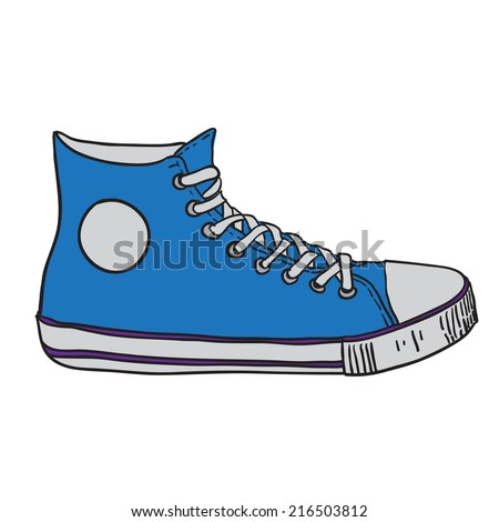 gym shoes. vector illustration - stock vector