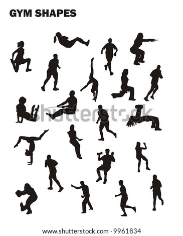gym vector shapes