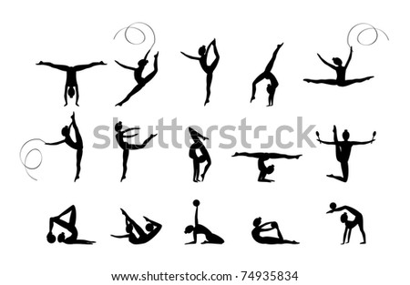 Gymnastic - stock vector
