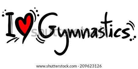 Gymnastics love - stock vector