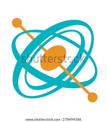 Gyroscope Tool Flat Style Design. Editable EPS10 - stock vector