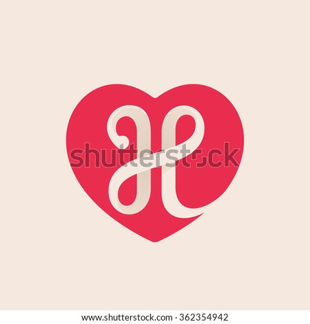 K Letter With Heart Images letter logo inside heart for st. Valentine's day design. Vector ...